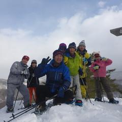 雪山を駆け回れ~!たっぷり遊んだスノーシュー半日コース