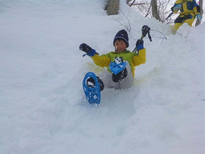 雪山を駆け回れ~!たっぷり遊んだスノーシュー半日コース005