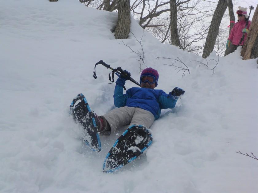 雪山を駆け回れ~!たっぷり遊んだスノーシュー半日コース003