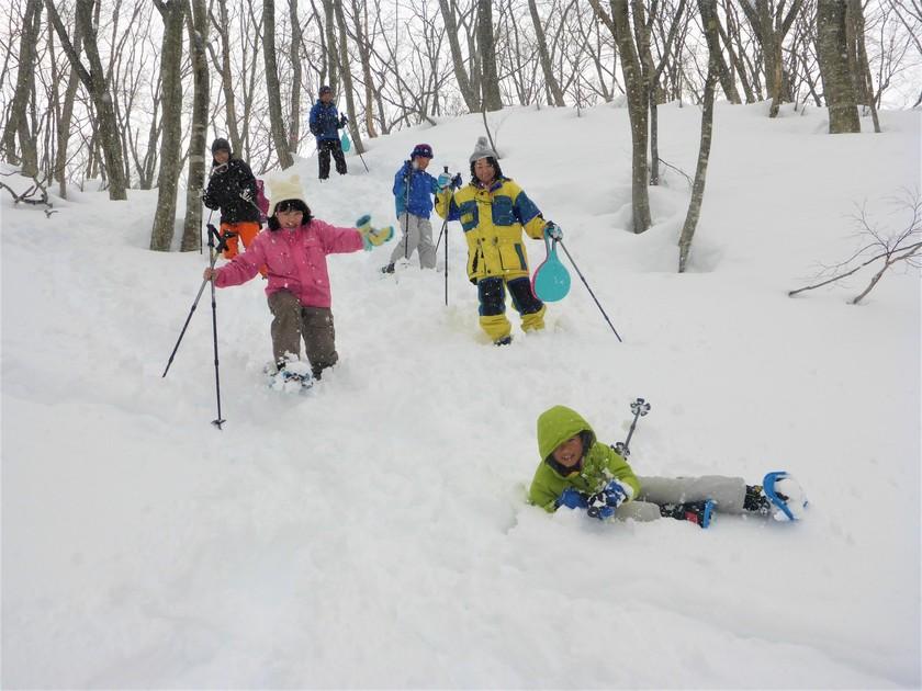 雪山を駆け回れ~!たっぷり遊んだスノーシュー半日コース002