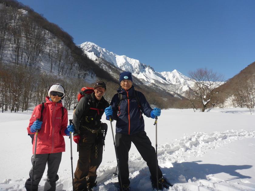 快晴のみなかみ町で雪上ハイキングを楽しもう001
