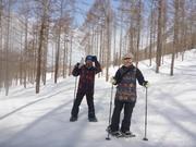 やっと行けた!この冬初の大幽コースで雪を満喫~♪
