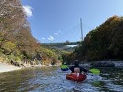 秋の紅葉利根川パックラフトツアー おっ切り込み付き♪