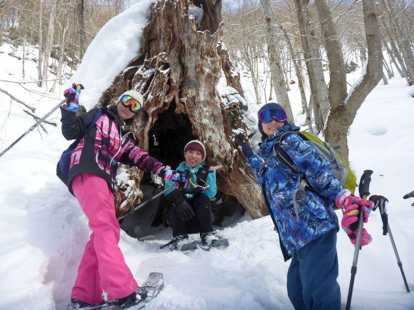 快晴のみなかみ町で雪上ハイキングを楽しもう!002