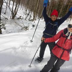 毎回新鮮な雪上ハイキング体験