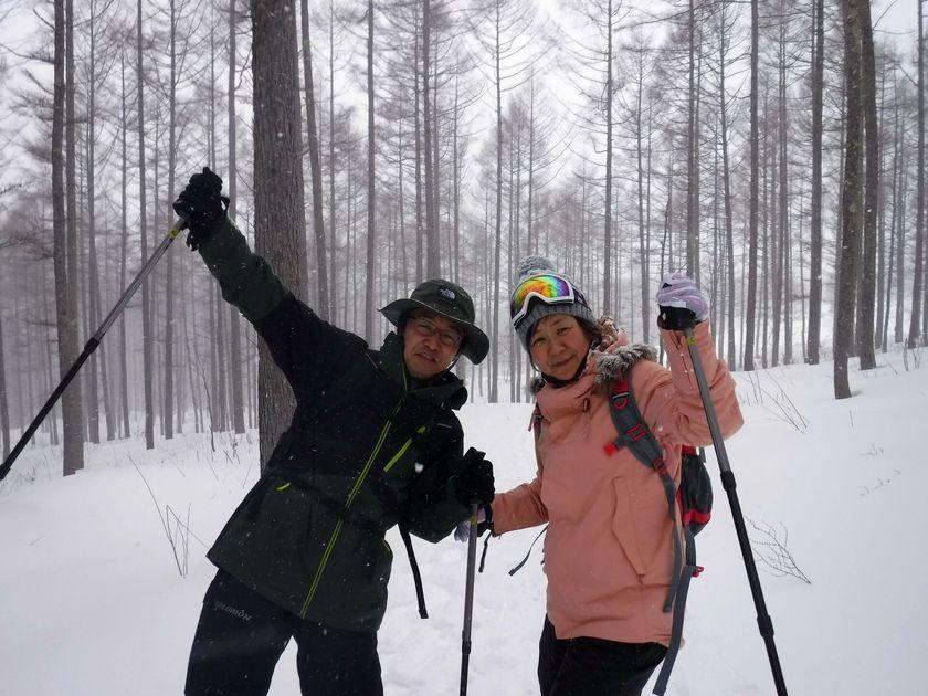 大人も子どもも笑顔いっぱいの雪上ハイキング☆004