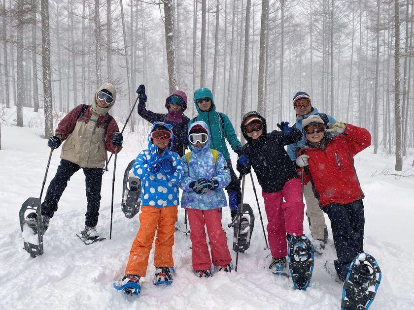 大人も子どもも笑顔いっぱいの雪上ハイキング☆001