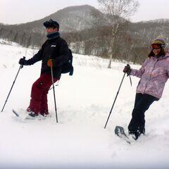 大自然の中で雪上ハイキング☆