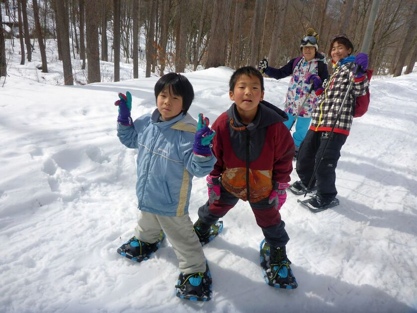 親子で雪上ハイキング☆001