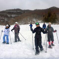 雪の上スイスイ歩けます