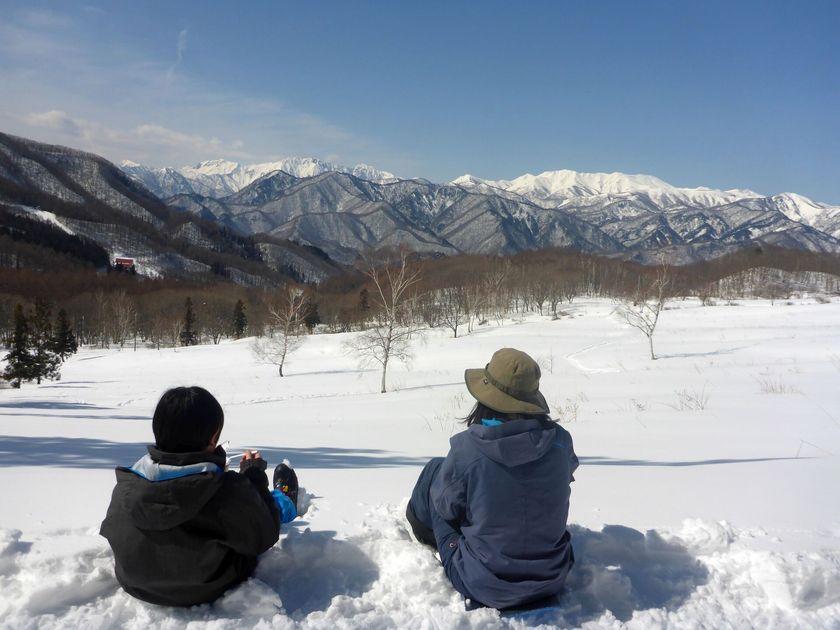 親子で雪上ハイキング☆002