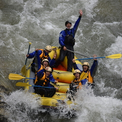 雨で増水!パワフル利根川!