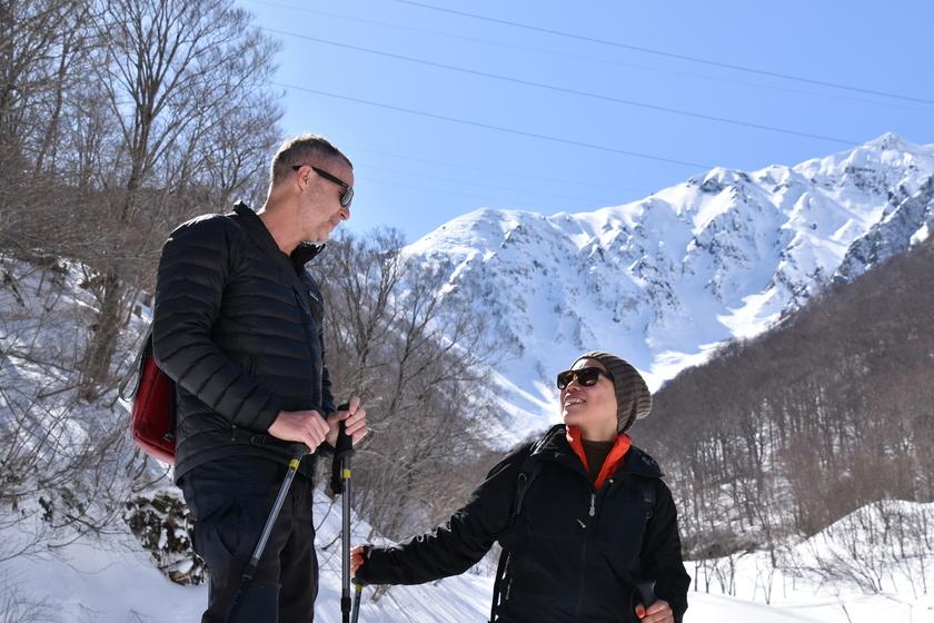 快晴のみなかみ町で雪上ハイキングを楽しもう!!002